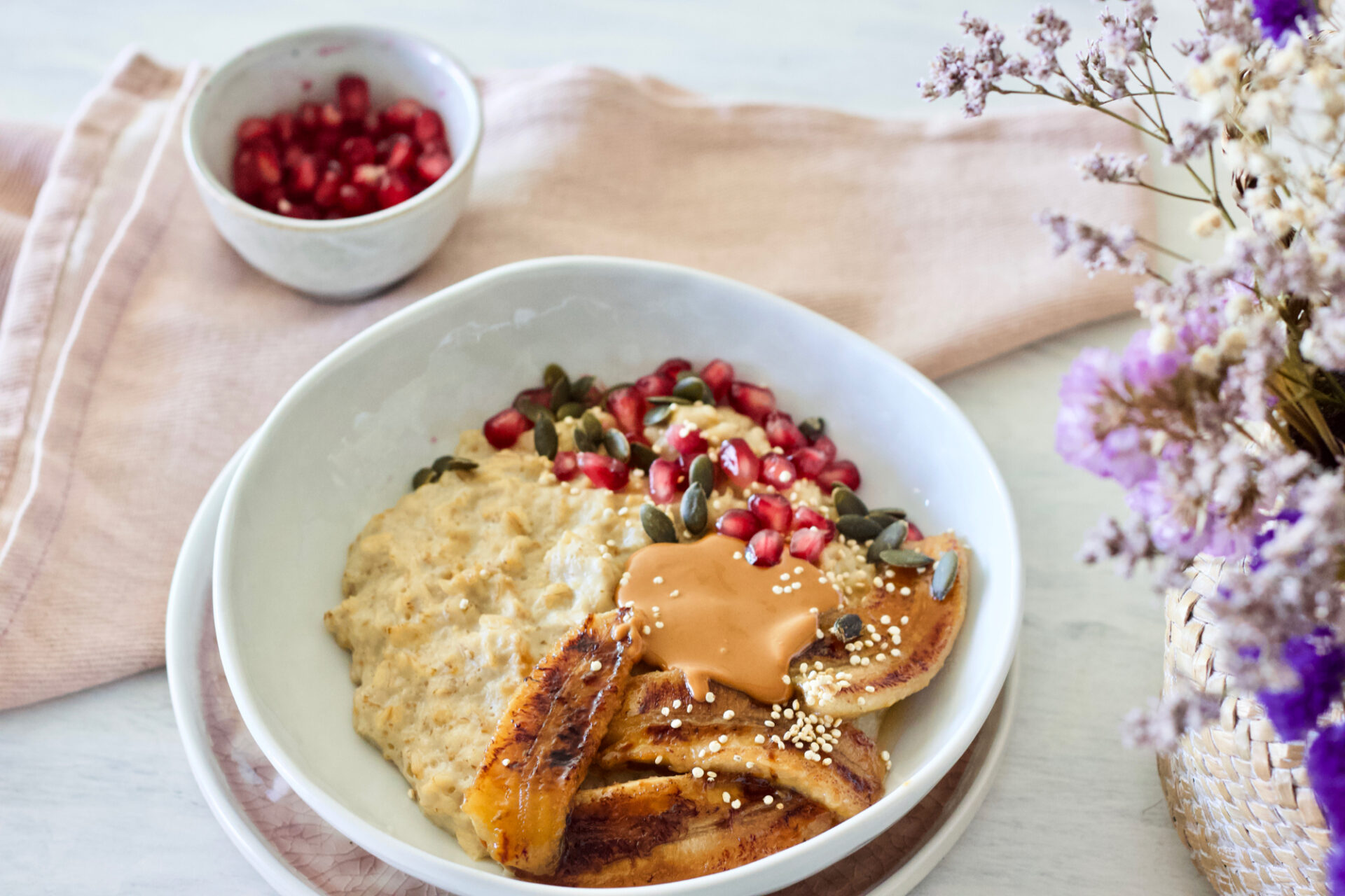 healthy-vegan-breakfast-caramelized-Banana-Oatmeal-saudável-aveia-banana-caramelizada-3