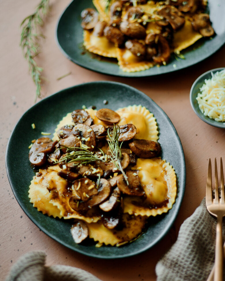 ravioli-lemon-mushrooms-rosemary - 4